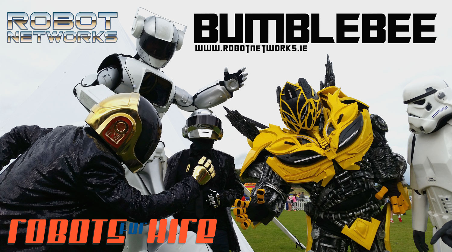 Robot-networks_BumbleBee_hire_dublin_events